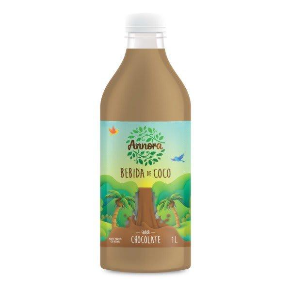 Bebida Vegetal De Coco Sabor Chocolate 1L - Annora