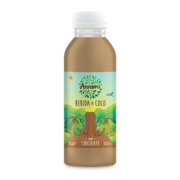 Bebida Vegetal De Coco Sabor Chocolate 300ml - Annora