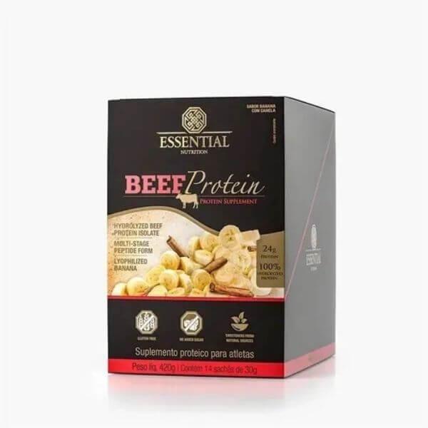Beef Protein Banana Com Canela DISPLAY 420g 12 unidades - Essential Nutrtion