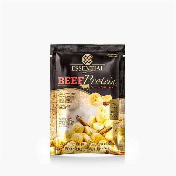 Beef Protein Banana Com Canela Sachê 32G - Essential Nutrtion