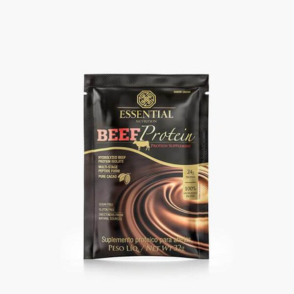 Beef Protein Cacao Sachê 32gr - Essential Nutrition