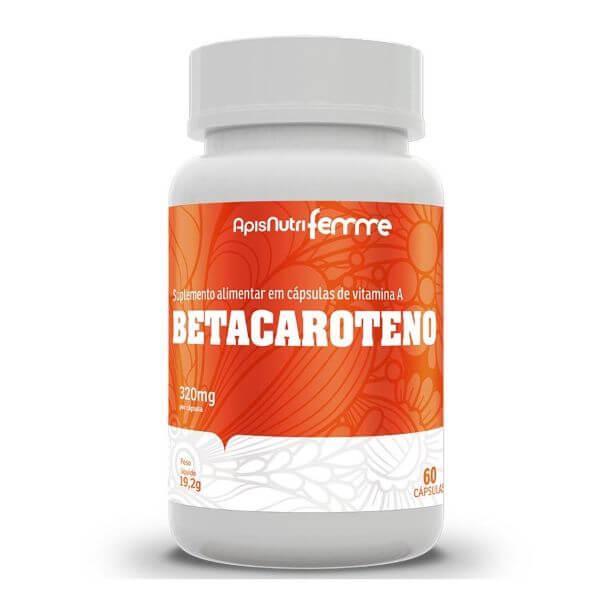 Betacaroteno  60 Cápsulas De 320mg - Apisnutri