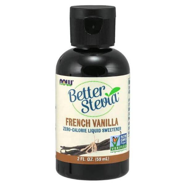 Better Stevia Baunilha Francesa Líquido 59ml - Now