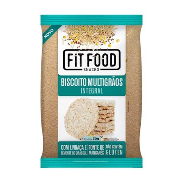 Biscoito De Arroz Multigrão Sem Glúten 30G Fit food