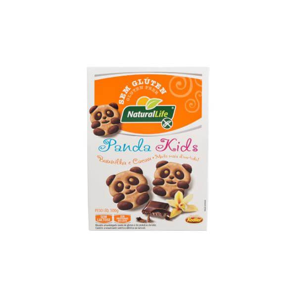 Biscoito Panda Kids Baunilha E Cacau Sem Glúten 100gr - Natural Life