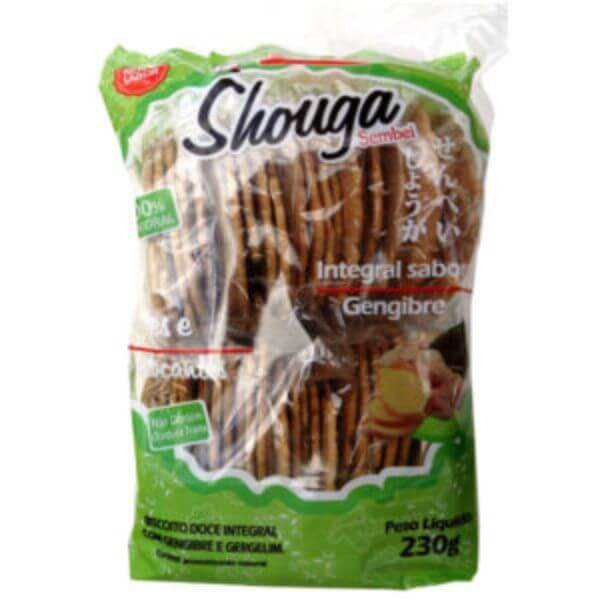 Biscoito Sembei Integral Sabor Gengibre 230gr - Satsumaya