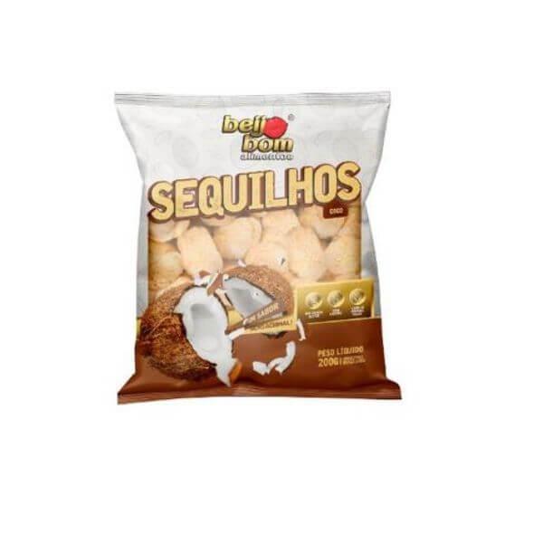 Biscoito Sequilhos Sabor  Coco 200gr - Beijo Bom