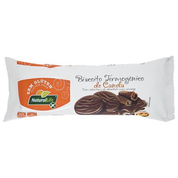 Biscoito Termogenico Sem Glúten Sabor Canela Coberto Com Chocolate 140gr - Natural Life