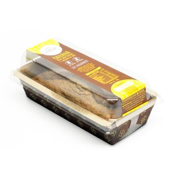 Bolo De Banana Sem Glúten E Sem Lactose 300gr - Di Mangiare