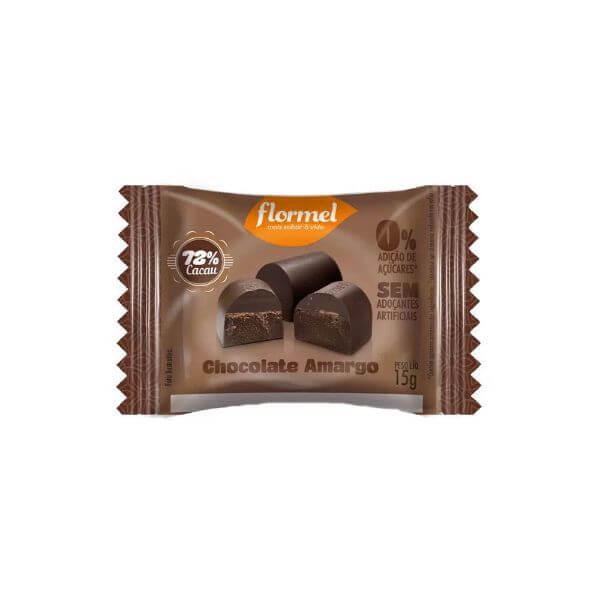 Bombom Amargo Zero Açúcar 15gr - Flormel