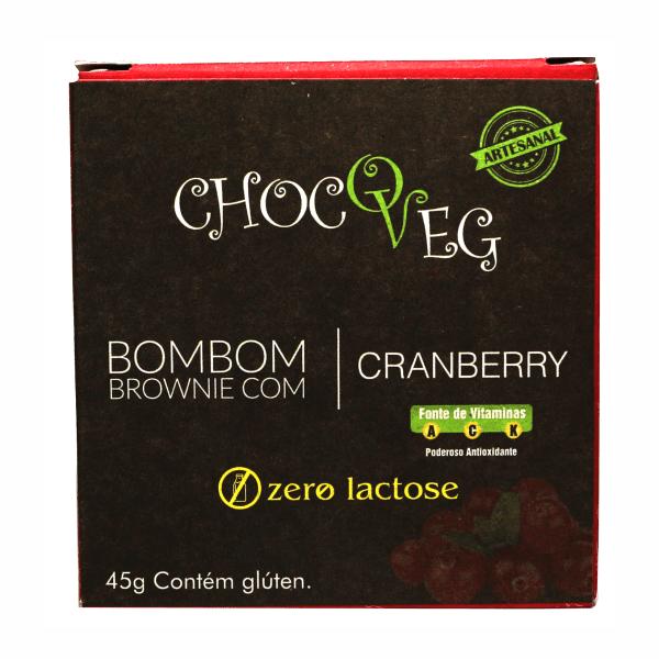 Bombom Brownie Cranberry 42GR - Chocoveg
