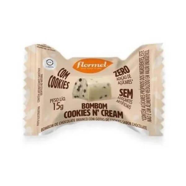 Bombom Cookiesn Cream Zero 15g - Flormel