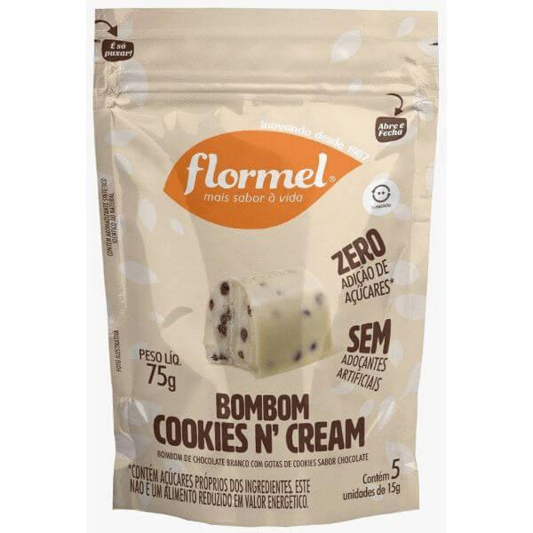 Bombom Cookiesn Cream Zero 75g - Flormel