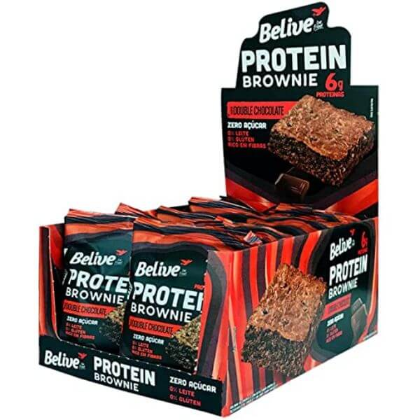 BROWNIE BELIVE PROTEIN ZERO ACUCAR DOUBLE CHOC. 40G DP C/10