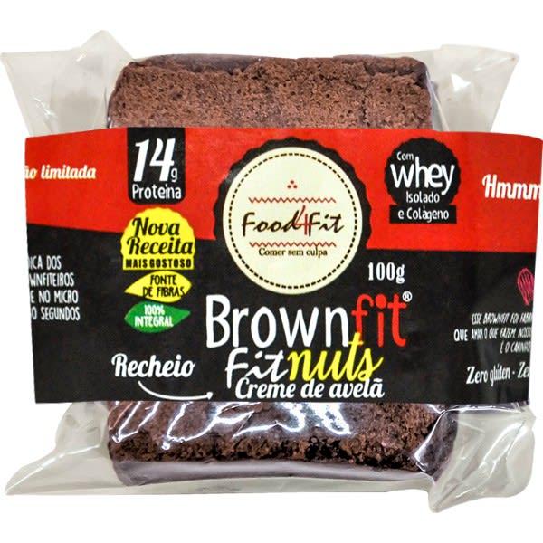 Brownie Fit Com Avelã Fittela 100g - Food4Fit