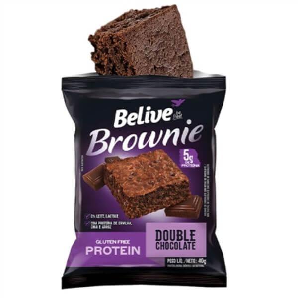 Brownie  Protein Sem Glúten Double Chocolate 40gr - Belive