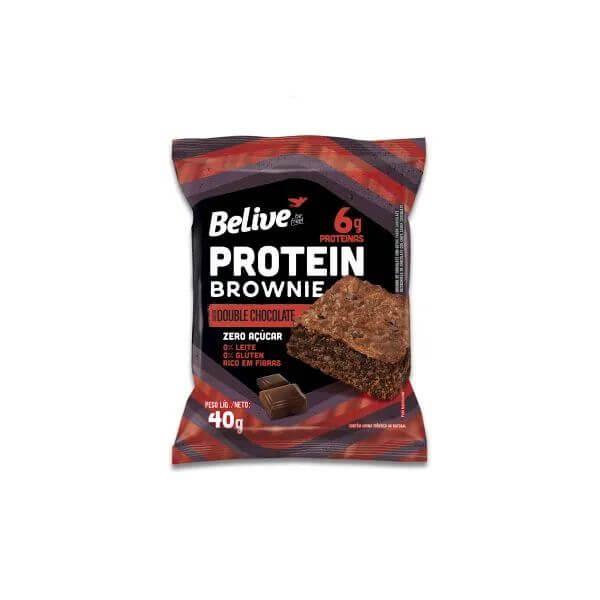 Brownie Protein Zero Açúcar Double Chocolate 40gr - Belive
