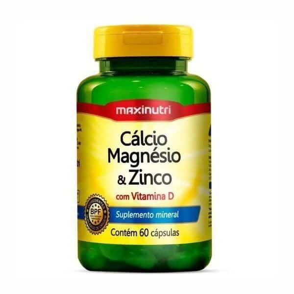 Calcio Magnesio Zinco 60 Cápsulas De 600mg - Maxinutri
