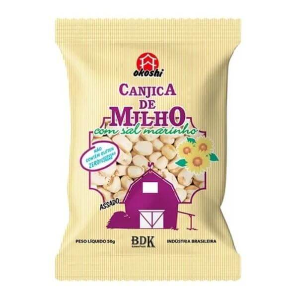 Canjicas De Milho com Sal Marinho 50gr - Okoshi