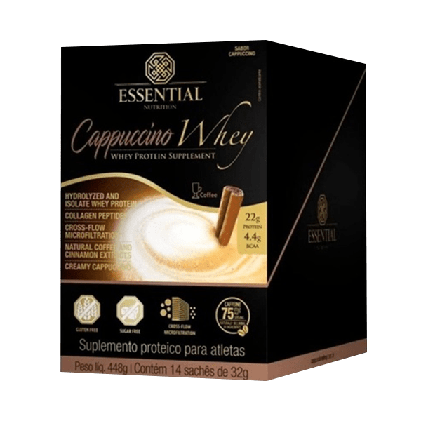 Cappuccino Whey Display 448g/14DS - Essential