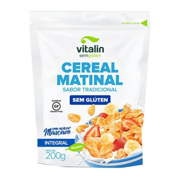 Cereal Matinal Tradicional Sem Glúten Com Açúcar Mascavo 200gr - Vitalin