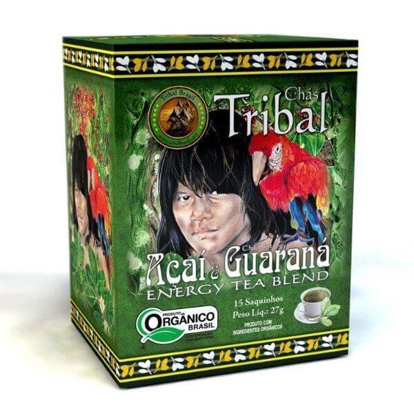 Chá De Erva Mate Orgânico Energy Tea De Erva Mate Açaí E Guaraná Caixa Com 15 Sachês De 27G - Tribal