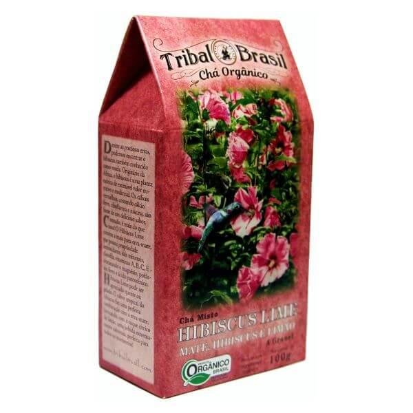 Chá De Erva Mate Orgânico Hibiscus Lime Caixa 100gr - Tribal