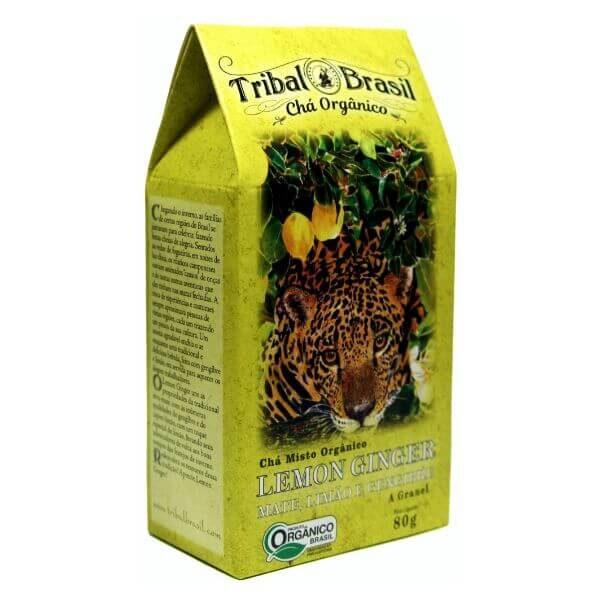 Chá De Erva Mate Orgânico Lemon Ginger Caixa 80gr - Tribal