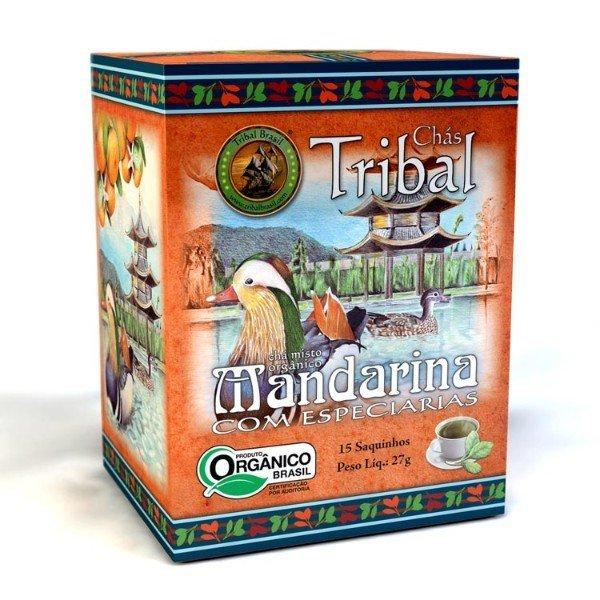 Chá De Erva Mate Orgânico Mandarina Com Especiarias Caixa Com 15 Sachês De 27gr- Tribal