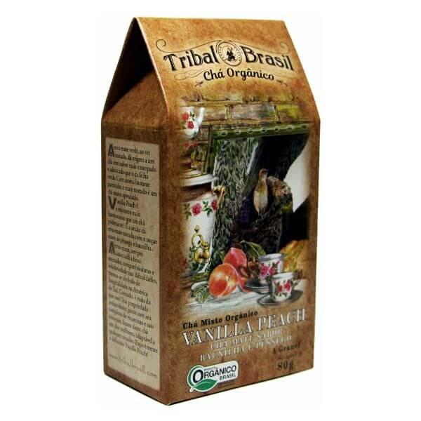 Chá De Erva Mate Orgânico Vanilla Peach Caixa 80gr - Tribal