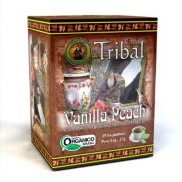 Chá De Erva Mate Orgânico Vanilla Peach Caixa Com 15 Sachês De 27gr - Tribal