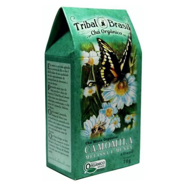 Chá Orgânico De Camomila Melissa E Menta Caixa 70gr - Tribal