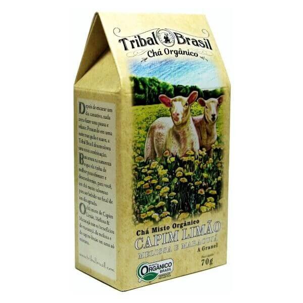 Chá Orgânico De Capim Limão Melissa E Maracujá Caixa 70gr - Tribal