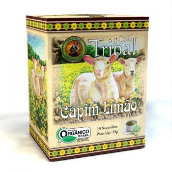 Chá Orgânico De Capim Limao Melissa E Maracuja Caixa Com 15 Sachês De 27G - Tribal