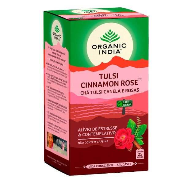 Chá Tulsi Canela e Rosas 25 Sachês - Organic India