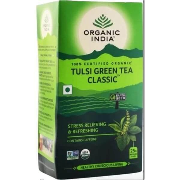Chá Tulsi Classic (Chá Verde) Lata 100gr -  Organic India
