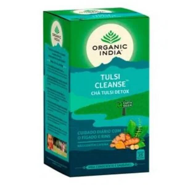 Chá Tulsi Cleanse (Açafrão e Gengibre) 25 Sachês de 45gr - Organic India