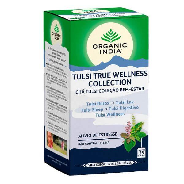 Chá Tulsi Coleção Bem Estar (Welness) 25 Sachês - Organic India