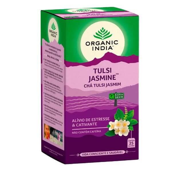 Chá Tulsi Jasmine 25 Sachês - Organic India