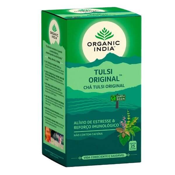 Cha Tulsi Original 25 Sachês de 25gr - Organic India
