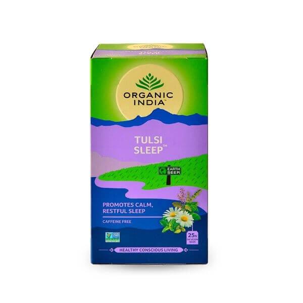 Chá Tulsi Sleep (Camomila, Cardamomo e Hortelã Pimenta) 25 Sachês de 45gr - Organic India
