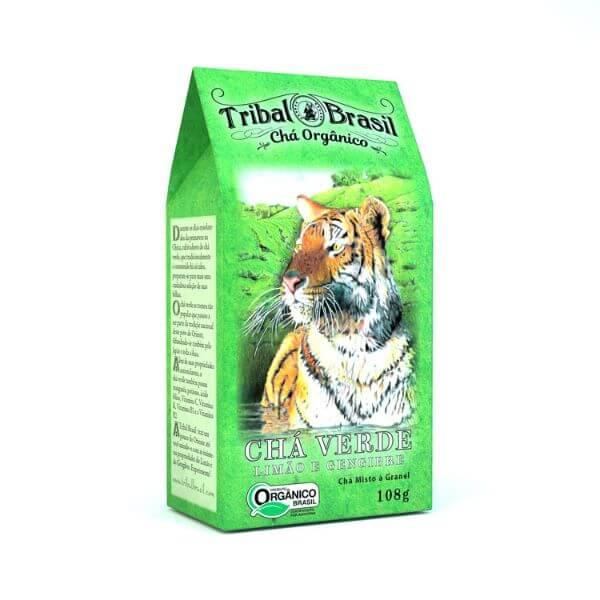Chá Verde Orgânico Com Limão E Gengibre Caixa 100gr - Tribal
