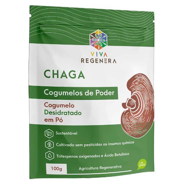 Chaga Cogumelos de Poder 100gr - Viva Regenera