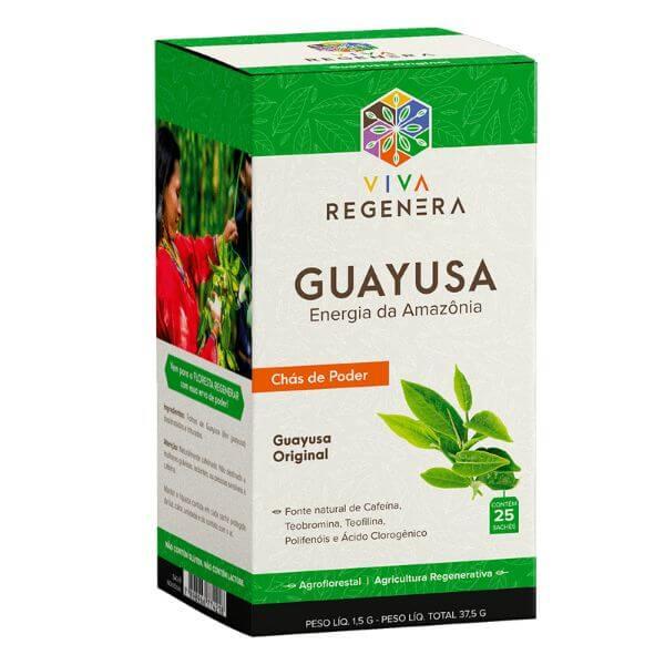 Chás de Poder Guayusa Original 25 Sachês - Viva Regenera