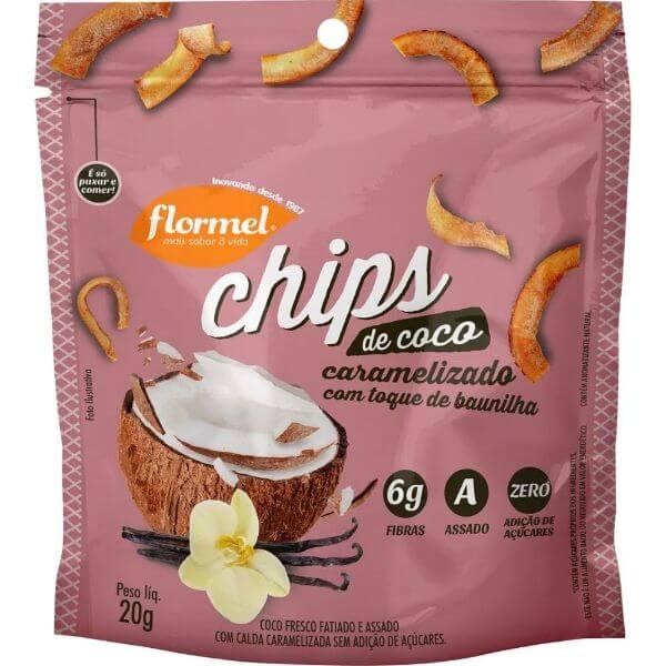 Chips De Coco Caramelizado 20G - Flormel