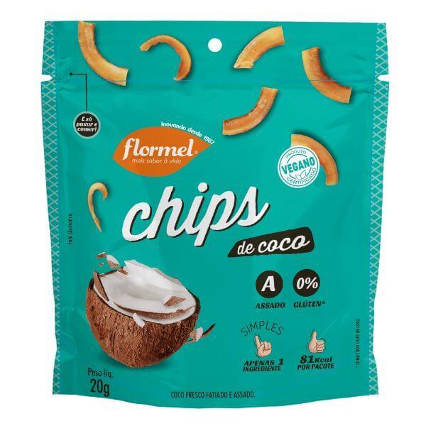 Chips De Coco Tradicional 20gr - Flormel
