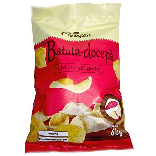 Chips Salgado Batata Doce-Pã 60gr - Clorofila