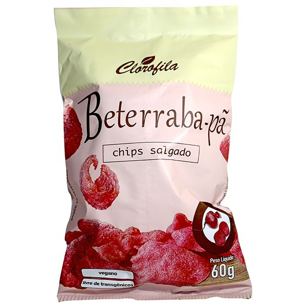 Chips Salgado Beterraba-Pã 60GR - Clorofila