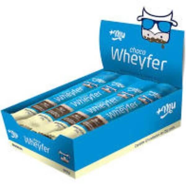 Choco Wheyfer Sabor Baunilha Com Cobertura De Chocolate Caixa com 12unds de 25gr -  MaisMu
