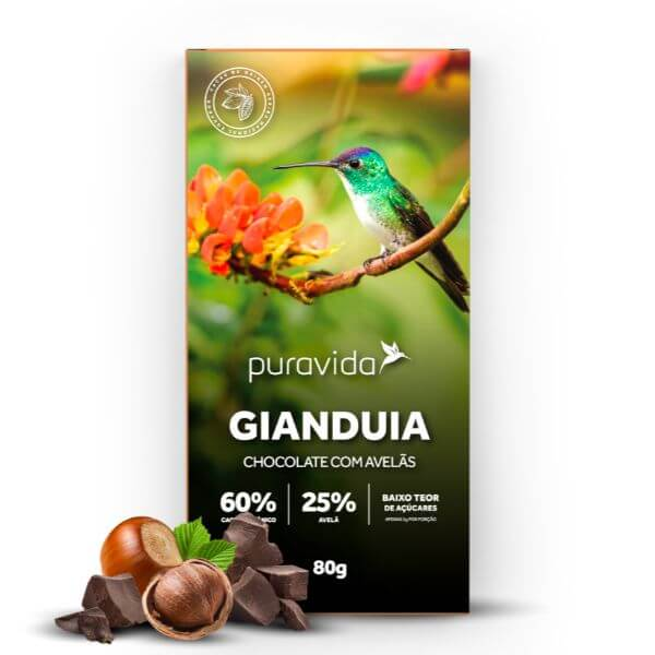 Chocolate Gianduia 80gr - Pura Vida